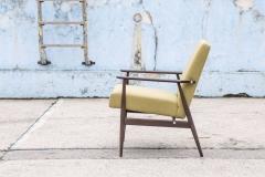 Fotel typ 300-190, Hanna Lis, żółty