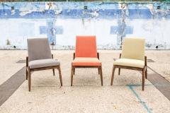 Fotel typ 300-227, Zamojskie Fabryki Mebli, szary