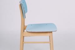 Komplet 3 krzeseł TON (Thonet), lata 60. XX w.