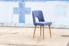 Krzesło typ 1020, Słupskie Fabryki Mebli, chabrowy