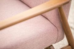 Fotel typ 300-190, Hanna Lis, czerwony