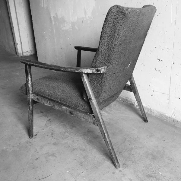 Fotel tapicerowany, lata 60/70.