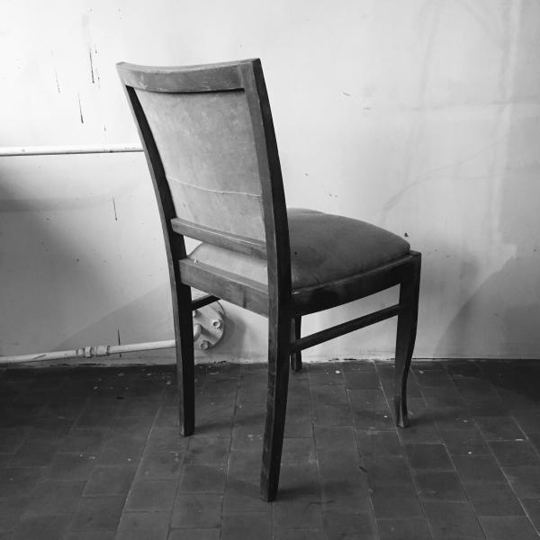 Krzesło tapicerowane, okres międzywojenny - 4 szt.