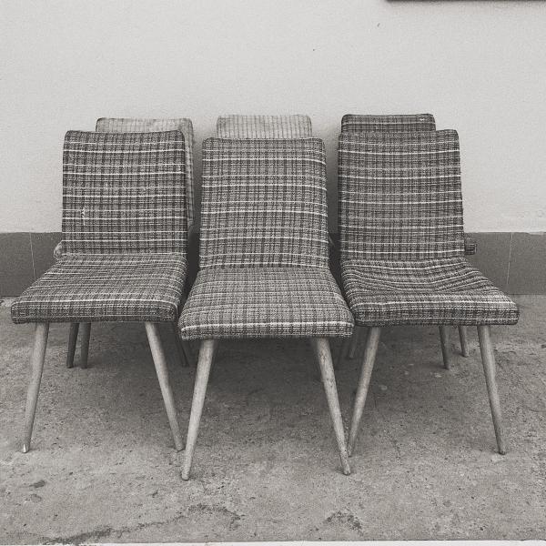 Krzesło patyczak, lata 60. - 6 szt.