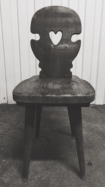 Drewniane krzesło w stylu góralskim - 4 szt